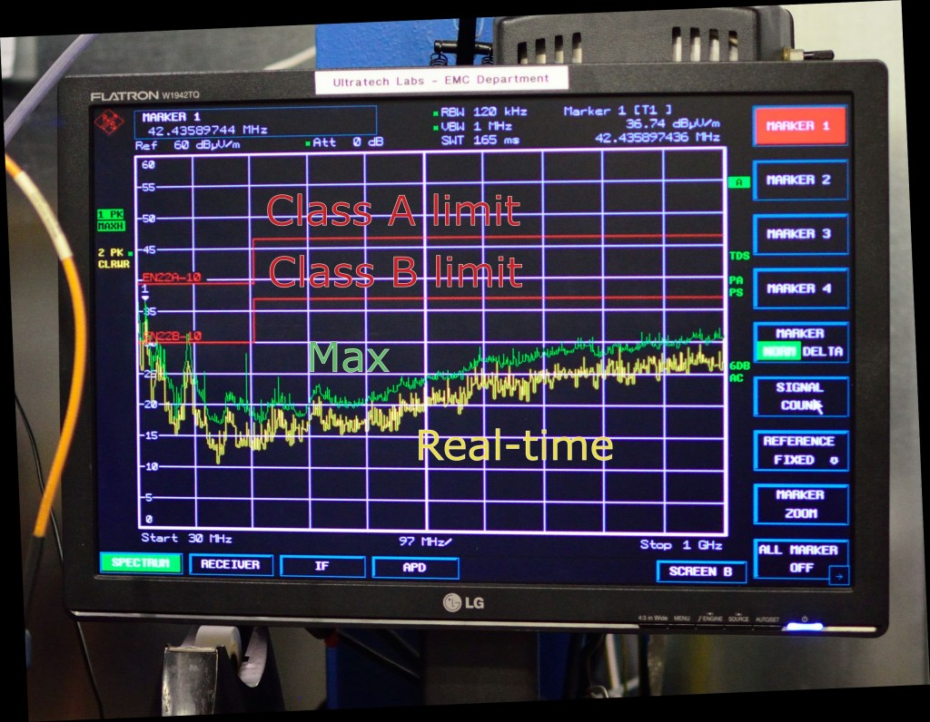 EMC pre-scan results